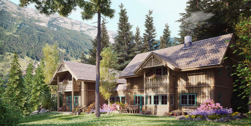 Dreamy Cottages in Traditional Ausseer Style on Grundlsee